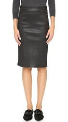 J Brand Estelle Leather Skirt Black