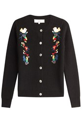 Vanessa Bruno Athe Embroidered Cardigan With Wool Black