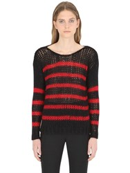 Saint Laurent Oversized Striped Wool And Mohair Sweater