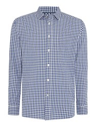 Howick Willow Gingham Long Sleeve Shirt Blue