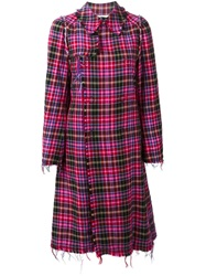 Comme Des Garcons Vintage Tartan Coat Pink And Purple