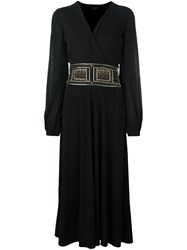 Etro Wrap Midi Dress Black