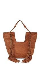 En Shalla Chain And Fringe Bag Burnt Sienna
