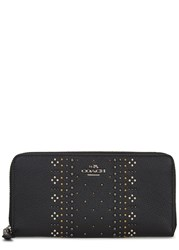 Coach New York Black Studded Grained Leather Wallet