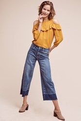 Anthropologie Pilcro High Rise Wide Leg Crop Jeans Tinted Denim