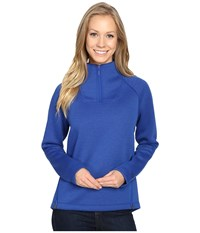 The North Face Neo Thermal Pullover Bright Cobalt Blue Black Heather Women's Long Sleeve Pullover