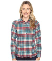 Woolrich The Pemberton Shirt Dark Teal Women's Long Sleeve Button Up Blue