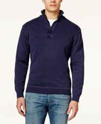 Weatherproof Stone Washed Half Zip Sweater
