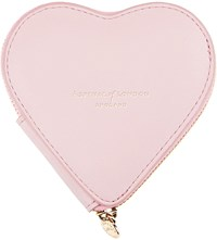 Aspinal Of London Leather Heart Coin Purse Blush Pink