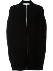 Mcq By Alexander Mcqueen Cocoon Style Knit Jacket Black