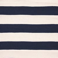 Dash And Albert Catamaran Stripe Rug Navy 61X91cm