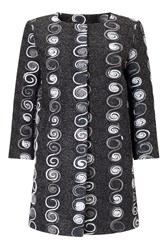 James Lakeland Embroidered Coat Black