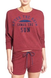 Sundry 'The Sun' Graphic Pullover Red
