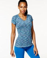 Ideology Space Dyed V Neck Top Only At Macy's Teal Multi