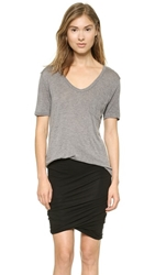 Alexander Wang Classic T Shirt With Pocket Heather Grey