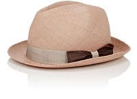 Barbisio Men's Straw Trilby Tan