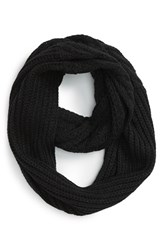 Women's Vince Camuto Cable Knit Infinity Scarf Black Caviar