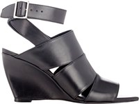 Narciso Rodriguez Julianna Wedge Sandals Colorless Size 6.5