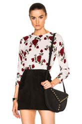 Equipment Floral Sloane Crew Sweater In White Floral White Floral