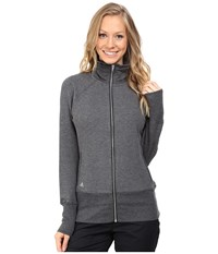 Adidas Premium Full Zip Layering Jacket Black Heather Women's Coat