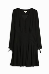 Paul And Joe Crepe Button Up Dress Black