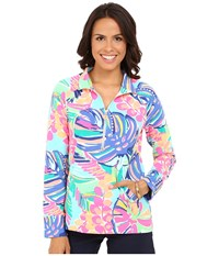 Lilly Pulitzer Skipper Popover Multi Exotic Garden Women's Long Sleeve Pullover