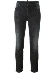 Dsquared2 Cropped Skinny Jeans Black