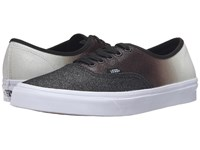 Vans Authentic 2 Tone Glitter Silver Black Skate Shoes