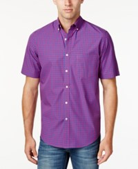 Club Room Men's Check Short Sleeve Shirt Only At Macy's Multi
