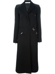 Christian Dior Vintage Leather Panel Coat Black