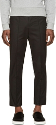 Denis Gagnon Black Striped And Pleated Trousers