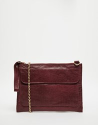Oasis Leather Fold Over Chain Strap Handbag Re1 Red 1