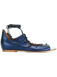 Malone Souliers 'Savannah' Flat Sandals Blue