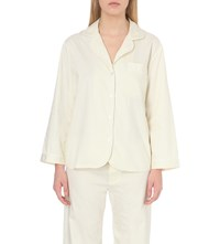 Bodas Verbier Cotton Pyjama Shirt Pale Yellow Stripe