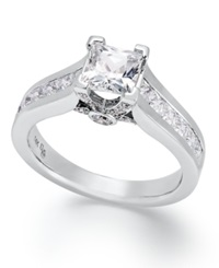 Macy's Certified Princess Cut Diamond Engagement Ring In 14K White Gold 1 1 2 Ct. T.W.