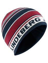 J Lindeberg Golf Acrylic Mix Beanie Hat Red