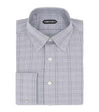 Tom Ford Collar Pin Checked Shirt Male