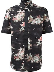 Marc Jacobs Floral Print Shirt Black