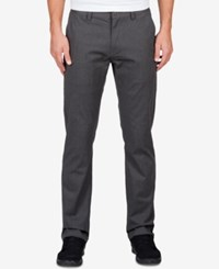 Volcom Men's Frickin Modern Stretch Pants Charcoal