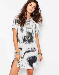Native Rose Festival T Shirt Dress With Shells Pewter Grey