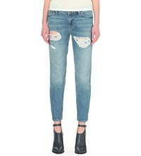 Allsaints April Relaxed Fit Low Rise Jeans Washed Indigo