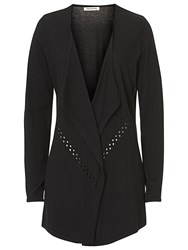 Betty Barclay Fine Knitted Waterfall Cardigan Black