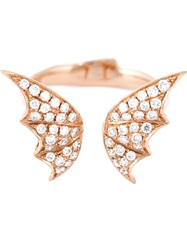 Stephen Webster Bat Wings Diamond Ring Metallic