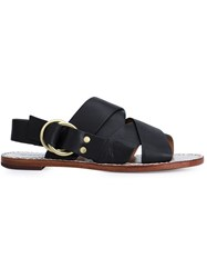 Derek Lam 10 Crosby Criss Cross Strap Sandals Black