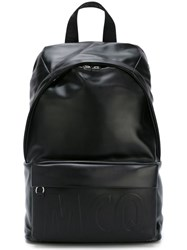 Mcq By Alexander Mcqueen Embossed Logo Backpack Black