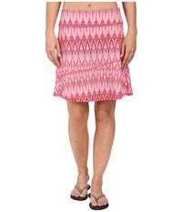 Prana Deedra Skirt Azalea Feather Women's Skirt Pink