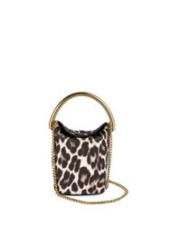 Stella Mccartney Snow Leopard Print Bucket Bag