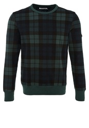 Ben Sherman Blackwatch Sweatshirt Pine Grove Green