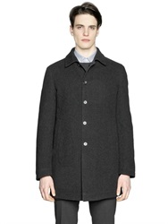 Z Zegna Reversible Wool Blend And Nylon Coat