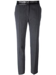 Courreges Houndstooth Trousers Blue